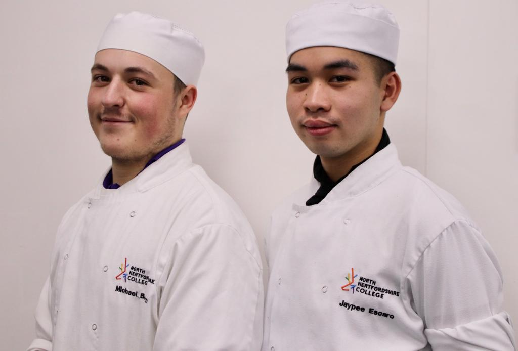 Winning student chefs Michael Brown and Jaypee Escaro