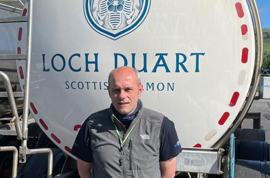 Loch Duart Dingwall plant manager Russell Leslie